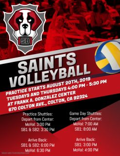 Basketball & Volleyball Practice Begins @ Gonzalez Center | Colton | California | United States