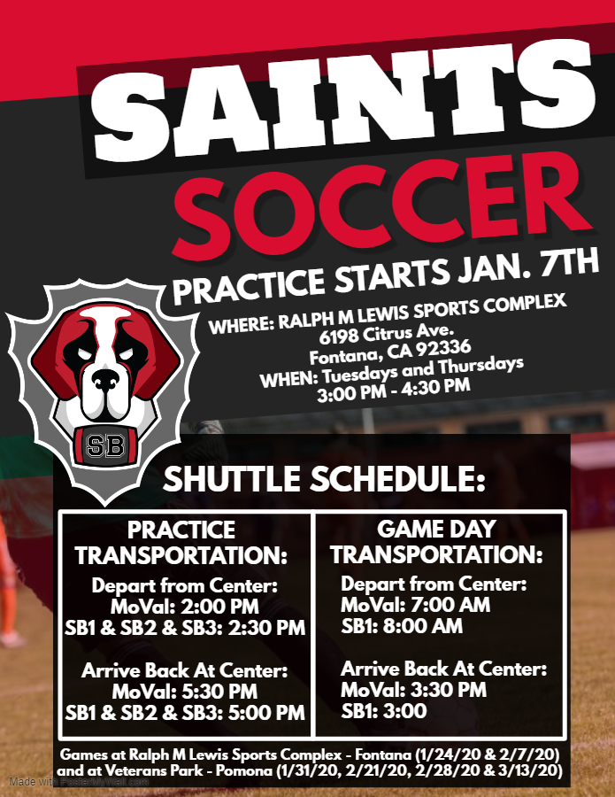 Soccer Practice Begins @ Ralph M. Lewis Sports Center | Fontana | California | United States