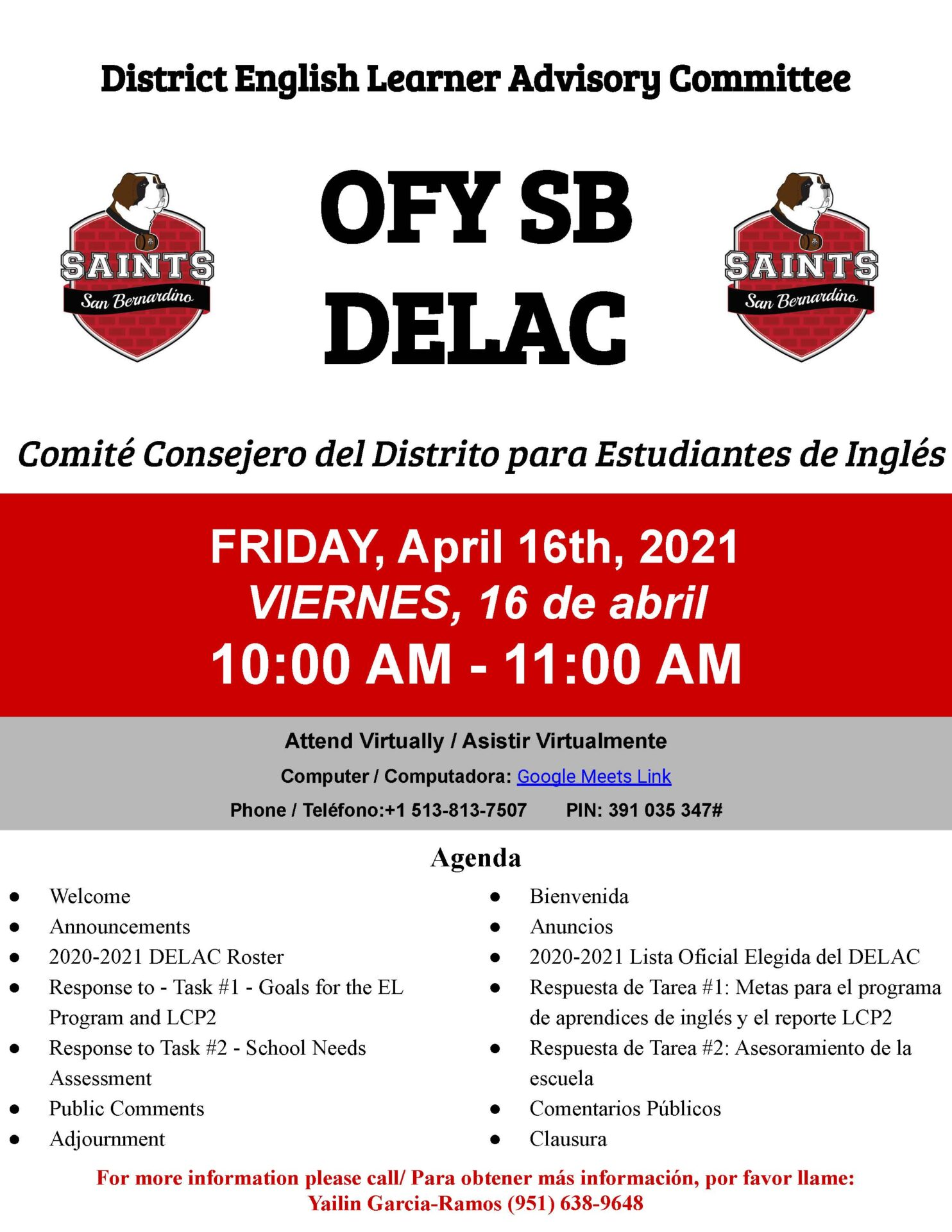 DELAC Meeting